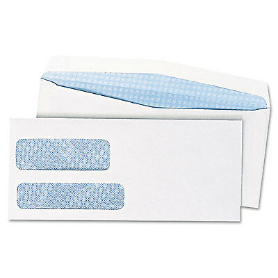 Quality Park Double Window Security Tinted Envelope #10 4 1/8 x 9 1/2 White 500