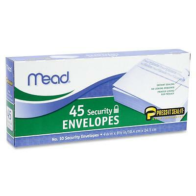 Mead Security Envelopes Self-Sealing No 10 45/BX White 75026