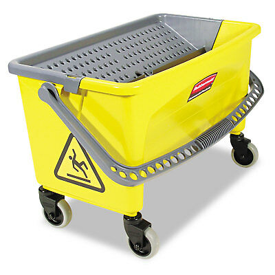 Rubbermaid Commercial HYGEN Press Wring Bucket for Microfiber Flat Mops Yellow