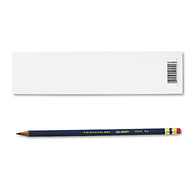 Prismacolor Col-Erase Pencil w/Eraser Blue Lead/Barrel Dozen 20044