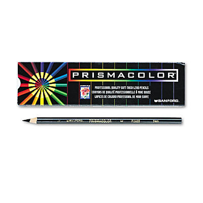 Prismacolor Premier Colored Pencil Black Lead/Barrel Dozen 3363