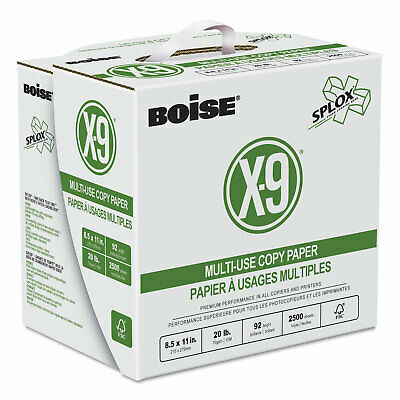 Boise X-9 SPLOX Multi-Use Copy Paper 92 Bright 20lb 8-1/2x11 White 2500/Ctn