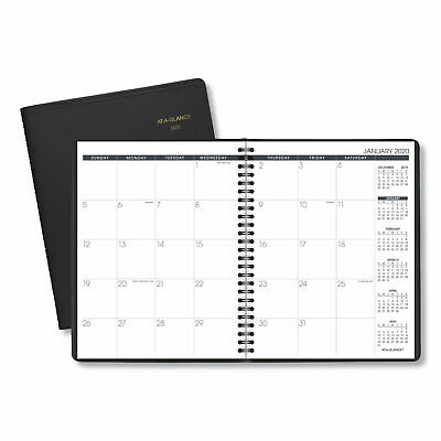 AT-A-GLANCE Monthly Planner 6 7/8 x 8 3/4 Black 2019 7012005