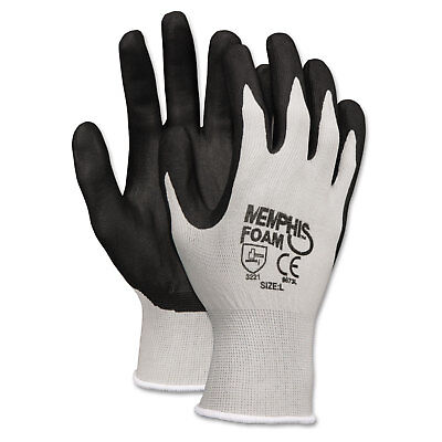 Memphis Economy Foam Nitrile Gloves Small Gray/Black 12 Pairs 9673S
