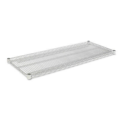 Alera Industrial Wire Shelving Extra Wire Shelves, 48w x 18d, Silver, 2 Shelves