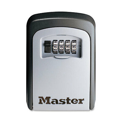 Master Lock Locking Combination 5 Key Steel Box 3 7/8w x 1 1/2d x 4 5/8h Black