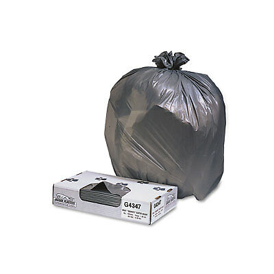 Jaguar Plastics Low-Density Commercial Can Liners 56gal 1.7mil Black 100/Carton