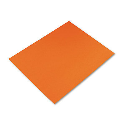 Pacon Peacock Four-Ply Railroad Board 22 x 28 Orange 25/Carton 54781
