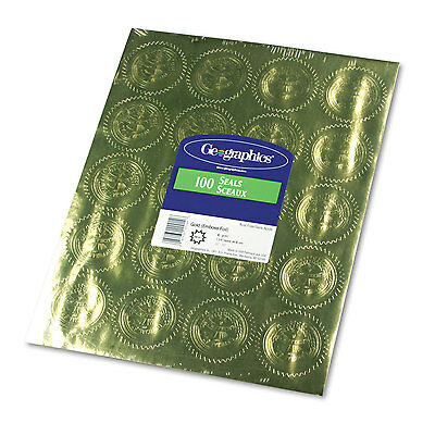 """Geographics Gold Foil Embossed """"Official Seal of Excellence"""" Seals 100/Pack"""