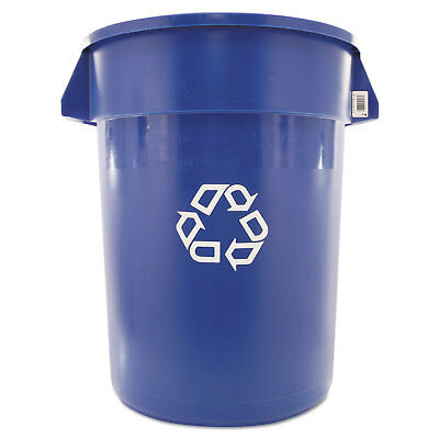 Rubbermaid Commercial Brute Recycling Container Round 32 gal Blue 263273BE