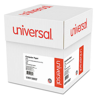 UNIVERSAL Computer Paper 20lb 9-1/2 x 11 Letter Trim Perforation White 2300