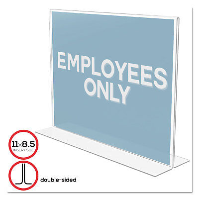 Deflecto Classic Image Stand-Up Double-Sided Sign Holder Plastic 11 x 8 1/2