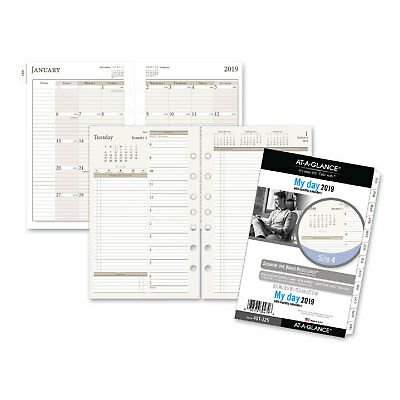 Business & Industrial Planners & Organizers At-a-glance One-day-per-page Planning Notebook