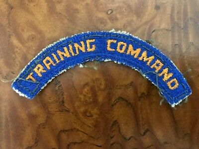 Original WW2 Army Air Force Training Command Tab Patch, Very Good Condition