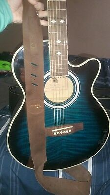 Indiana Madison Blue Acoustic Electric Guitar Cutaway