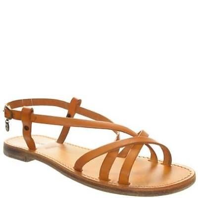 Celtic & Co Hand Dyed Ancient Greek style strappy Sandals Ochre 38 UK 5 BNIB