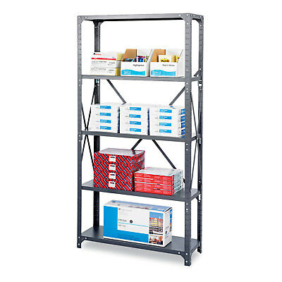 Safco Commercial Steel Shelving Unit Six-Shelf 36w x 18d x 75h Dark Gray 6269