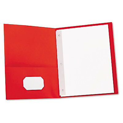 Universal Two-Pocket Portfolios w/Tang Fasteners 11 x 8-1/2 Red 25/Box 57118