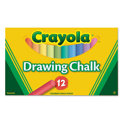 Crayola Colored Drawing Chalk 12 Assorted Colors 12 Sticks/Set 510403