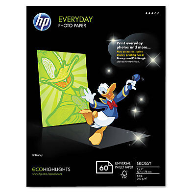 Hp Everyday Photo Paper Glossy 5 x7 60 Sheets/Pack CH097A