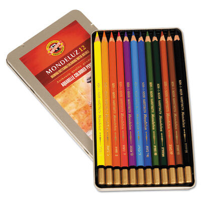 Koh-I-Noor Mondeluz Aquarelle Colored Pencils Assorted FA372212BC