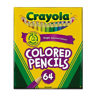 Crayola Colored Woodcase Pencil HB 3.3 mm Assorted 64/Pack 683364