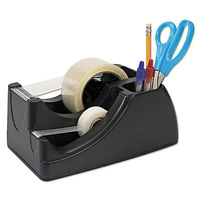 """Officemate Recycled 2-in-1 Heavy Duty Tape Dispenser 1"""" and 3"""" Cores Black 96690"""