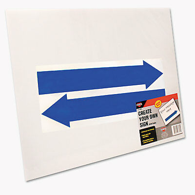 Cosco Stake Sign Blank White Includes Directional Arrows  15 x 19 098055
