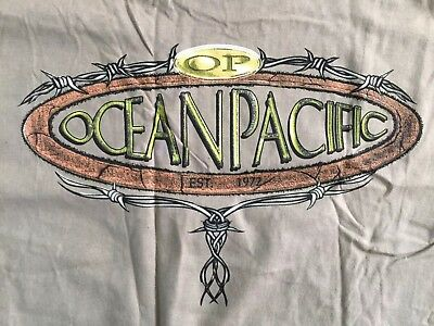 Vintage New NWT OP Ocean Pacific Surf Surfing Barbed Wire Made USA T-Shirt tee