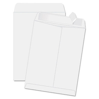 Quality Park Redi Strip Catalog Envelope 11 1/2 x 14 1/2 White 100/Box 44834