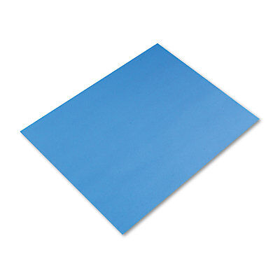 Pacon Peacock Four-Ply Railroad Board 22 x 28 Light Blue 25/Carton 54841