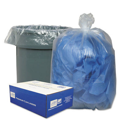 Classic Clear Clear Low-Density Can Liners 56gal .9 Mil 43 x 47 Clear 100/Carton