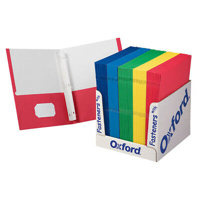 Oxford School Grade Twin Pocket Folders With Fasteners 100 Per Box 50764