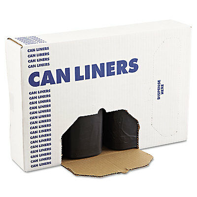 Boardwalk SH-Grade Can Liners 38 x 58 60gal 1.2mil Black 25/Roll 4 Rolls/Carton
