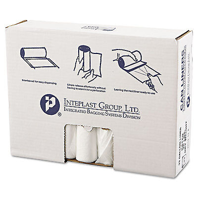 Inteplast Group High-Density Can Liner 33 x 39 33gal 13mic Clear 25/Roll 20