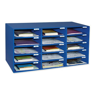 Classrooom Keepers Mail Box - 15 Mail Slots Blue 1308