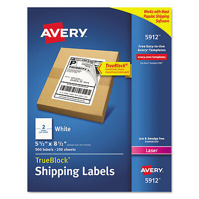 avery shipping labels with trueblock technology laser 2 x 4 white