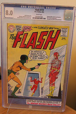 The Flash #119 (DC, 1961) CGC VF 8.0 White pages