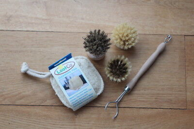 Natural fibre washing up set-plastic free cleaning/zero waste