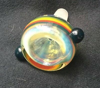 32 Rasta 14mm Color Changing Thick Heavy Fumed Bong Bowl male Pieces