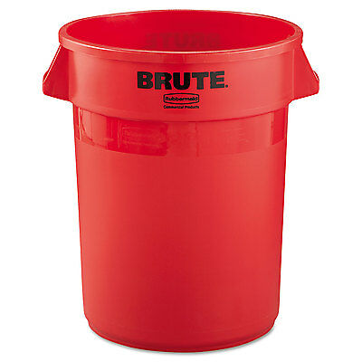 Rubbermaid Commercial Round Brute Container Plastic 32 gal Red 2632RED