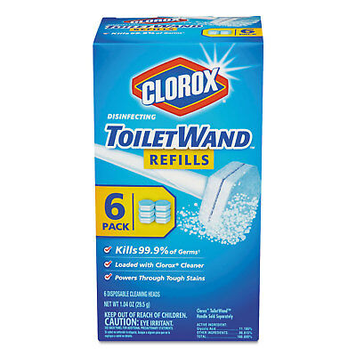 Clorox Disinfecting ToiletWand Refill Heads 6/Pack 14882