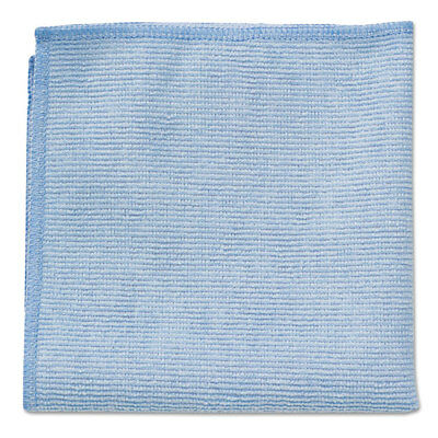 Rubbermaid Commercial Microfiber Cleaning Cloths 16 X 16 Blue 24/Pack 1820583