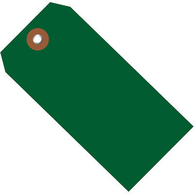 """Box Partners Plastic Shipping Tags 4 3/4"""" x 2 3/8"""" Green 100/Case G26054"""