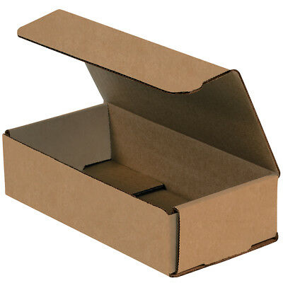 "Box Partners Corrugated Mailers 8"" x 4"" x 2"" Kraft 50/Bundle M842K"