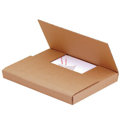 "Box Partners Easy-Fold Mailers 11 1/8"" x 8 5/8"" x 1"" Kraft 50/Bundle M1181K"