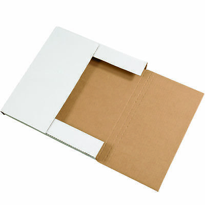 "Box Partners Easy-Fold Mailers 10 1/4"" x 10 1/4"" x 1"" White 50/Bundle M10101"