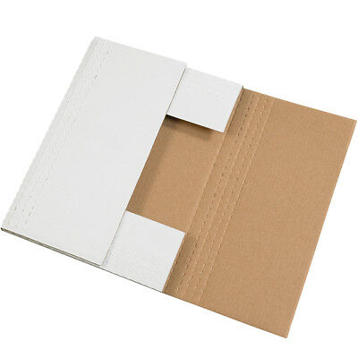 "Box Partners Easy-Fold Mailers 14 1/8"" x 8 5/8"" x 2"" White 50/Bundle M1482BF"