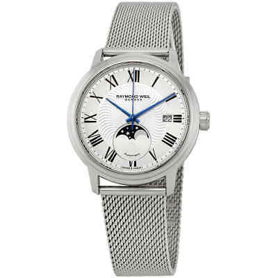 Raymond Weil Maestro Moonphase Automatic Silver Dial Men's Watch 2239M-ST-00659