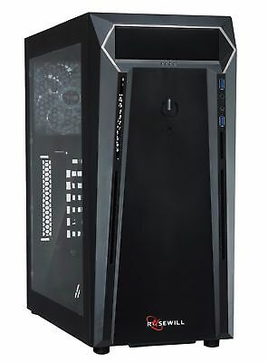 Rosewill GRAM Gaming ATX Mid Tower Computer Case, Side-Window Panel Rear LED Fan